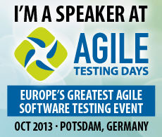 "Speaker at the ""Agile Testing Days"""