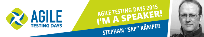 I'm a speaker at Agile Testing Days 2015
